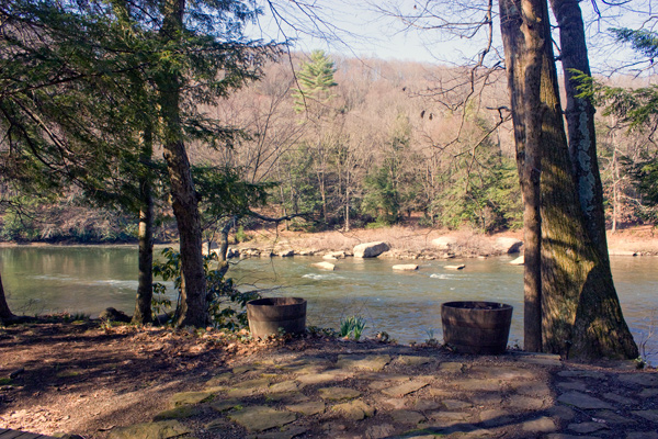 River View from Picnic Table on Front Porch